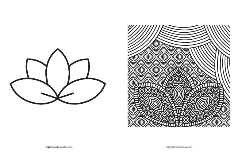 free printable coloring page for toddlers - lotus flower