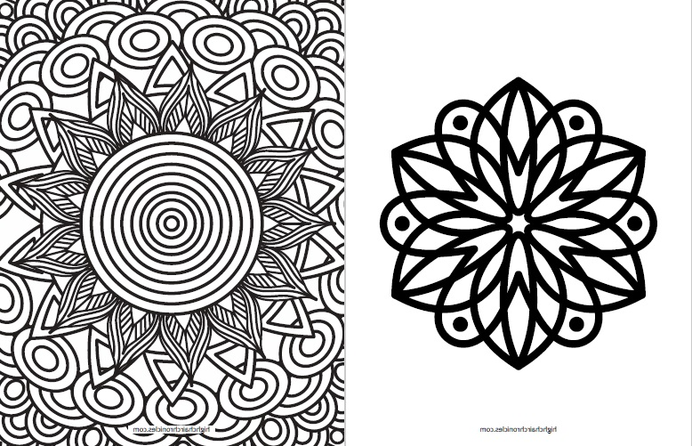 free printable coloring page for toddlers - flower mandala