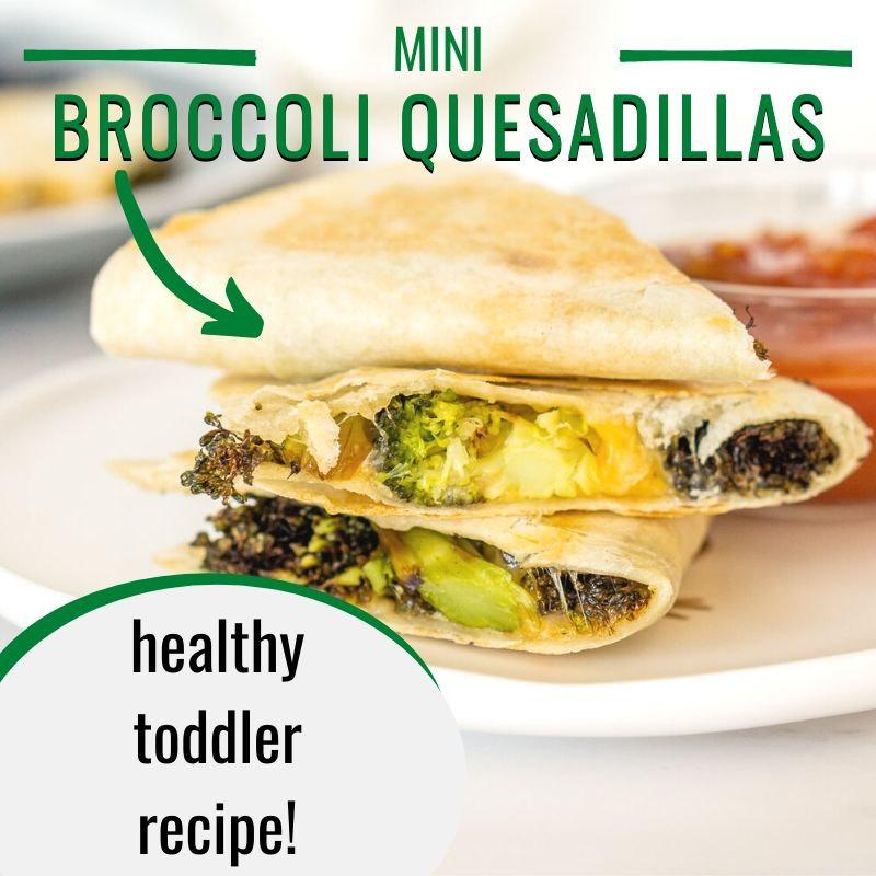 mini broccoli quesadillas graphic