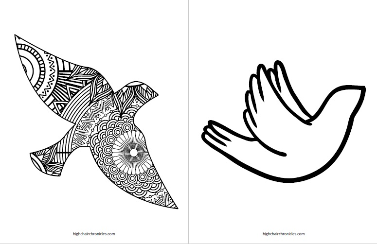 free printable coloring page - bird
