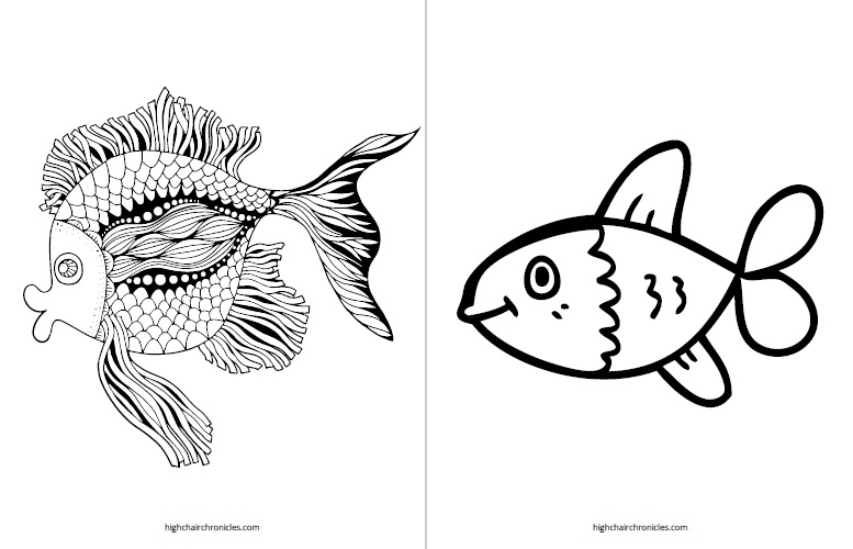 free printable coloring page for toddlers - fish