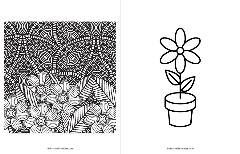 free printable coloring page for toddlers - flower