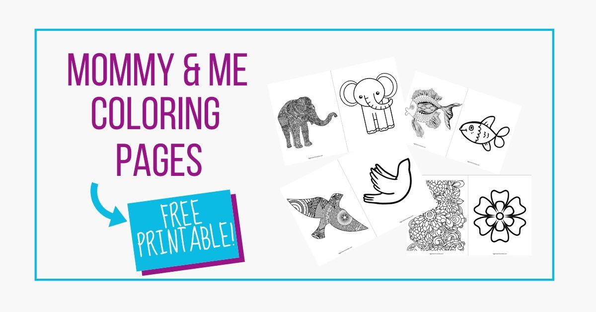 mommy and me coloring pages free printable graphic