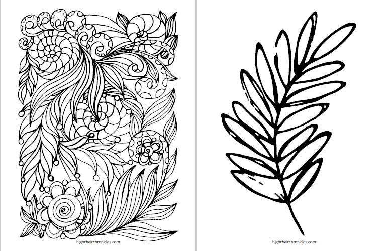 free printable coloring page for toddlers - leaves