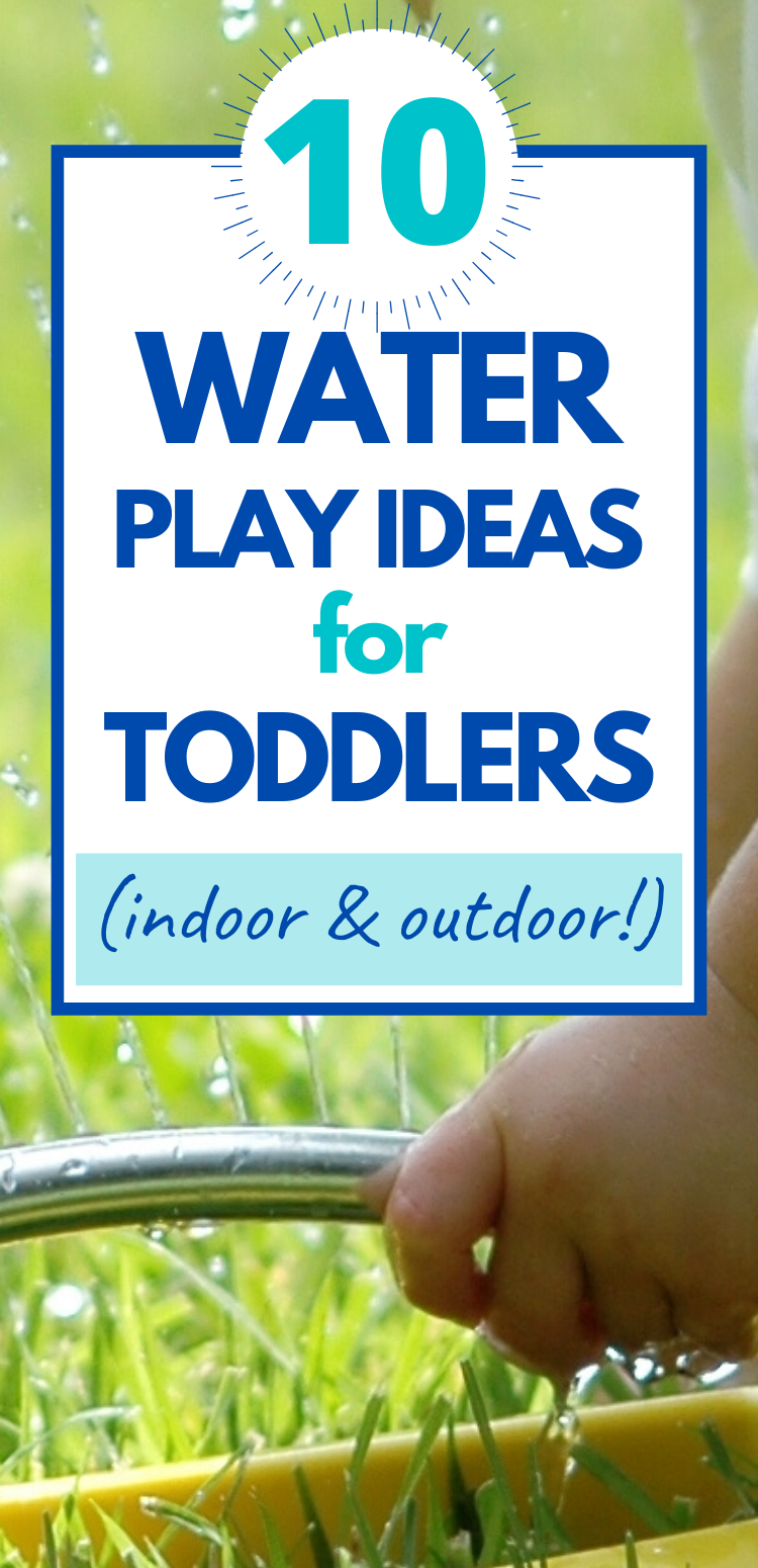 water play ideas for toddlers graphic