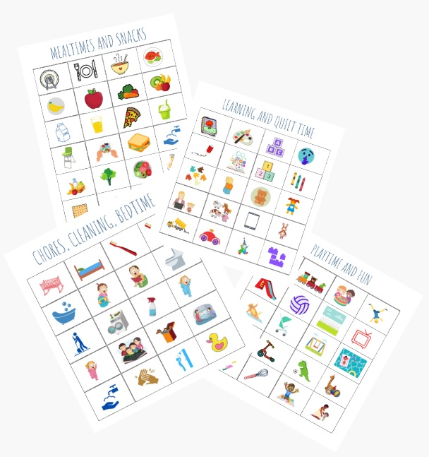 image of printable toddler schedule pages
