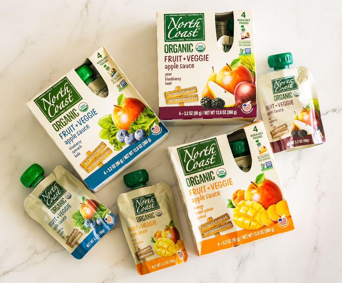 healthy fruit and veggie pouches for toddlers