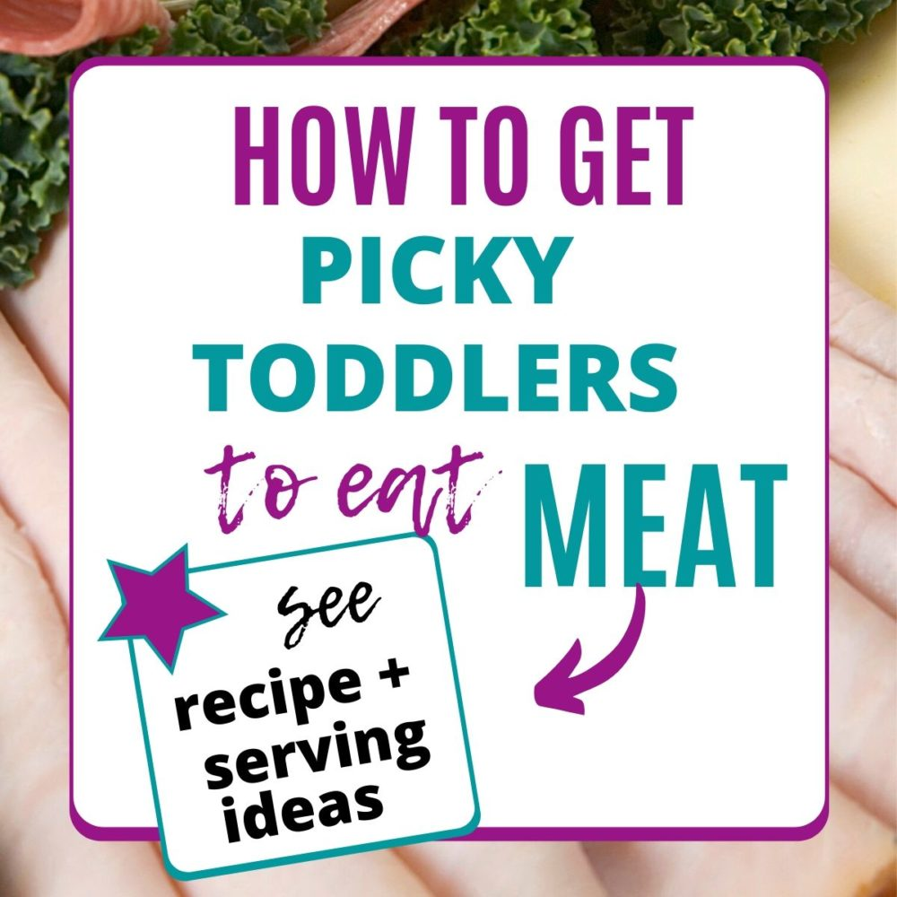 how to get picky toddlers to eat meat graphic