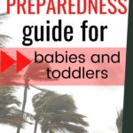 hurricane preparedness guide for babies and toddlers - pinterest graphic