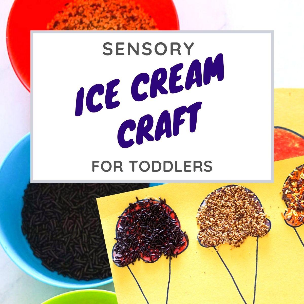 sensory ice cream craft graphic
