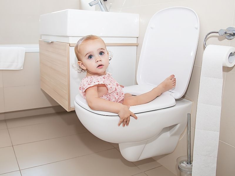 toddler fell into toilet