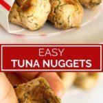 tuna nuggets pinterest graphic