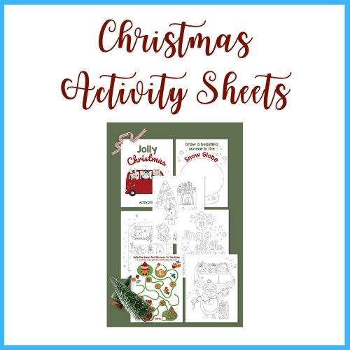 graphic of free christmas activity sheet printable
