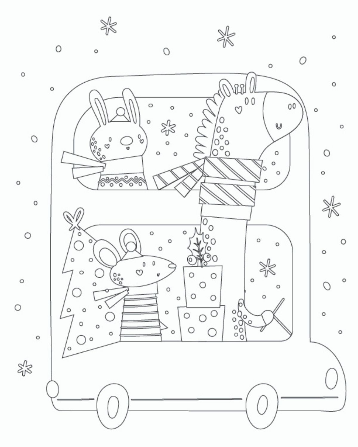 christmas coloring page for toddlers