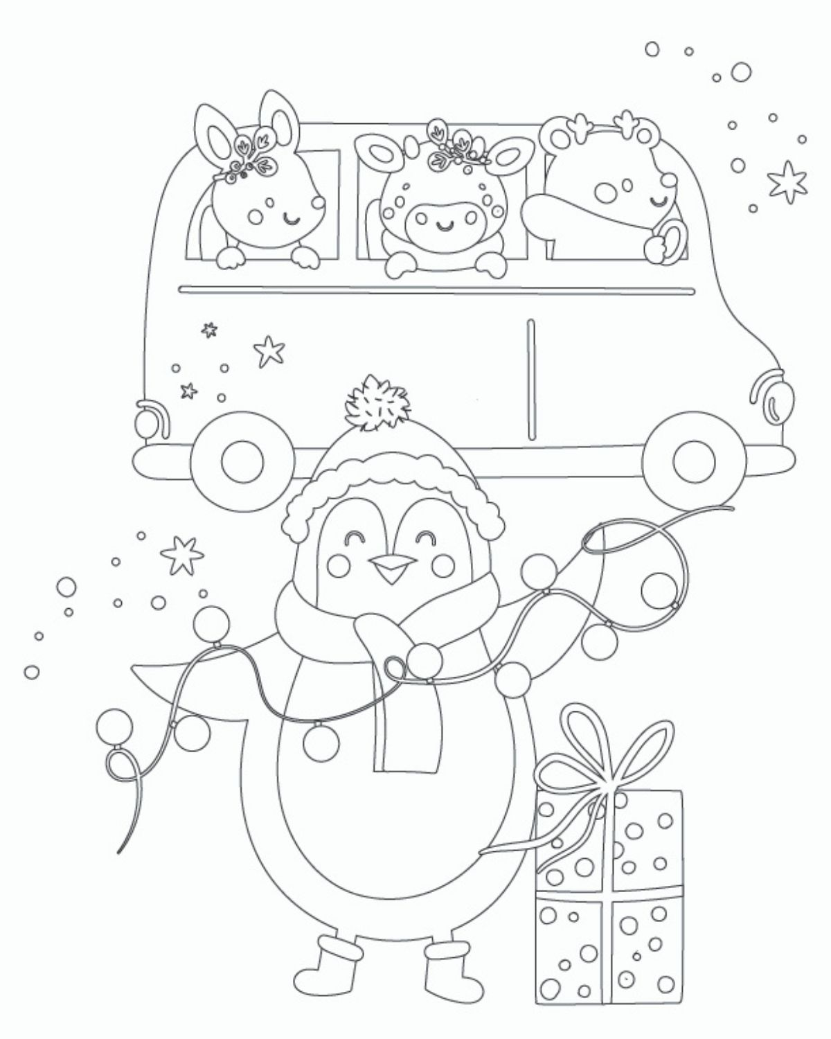 christmas coloring page for rpeschoolers