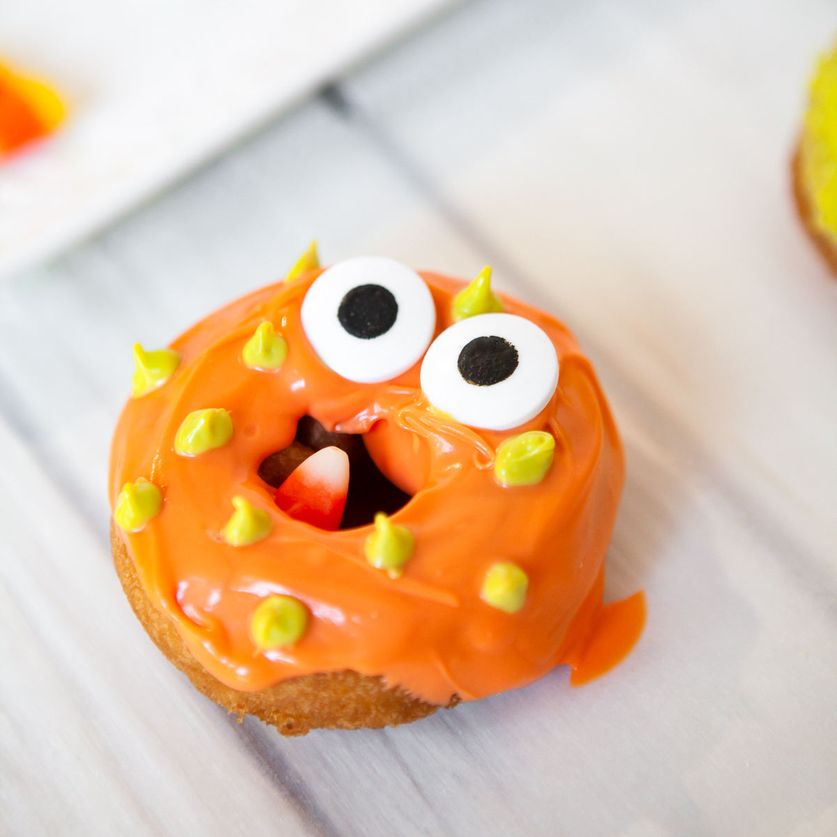Halloween monster donut with eyes