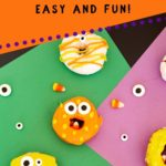 pinnaple image of monster donuts on colorful construction paper