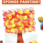 pinnaple image of easy toddler fall activity - sponge painting