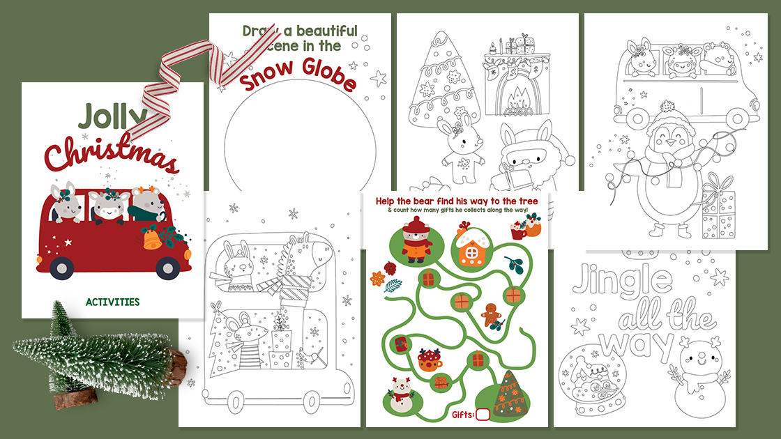 Free Printable Christmas Activity Sheets - High Chair Chronicles