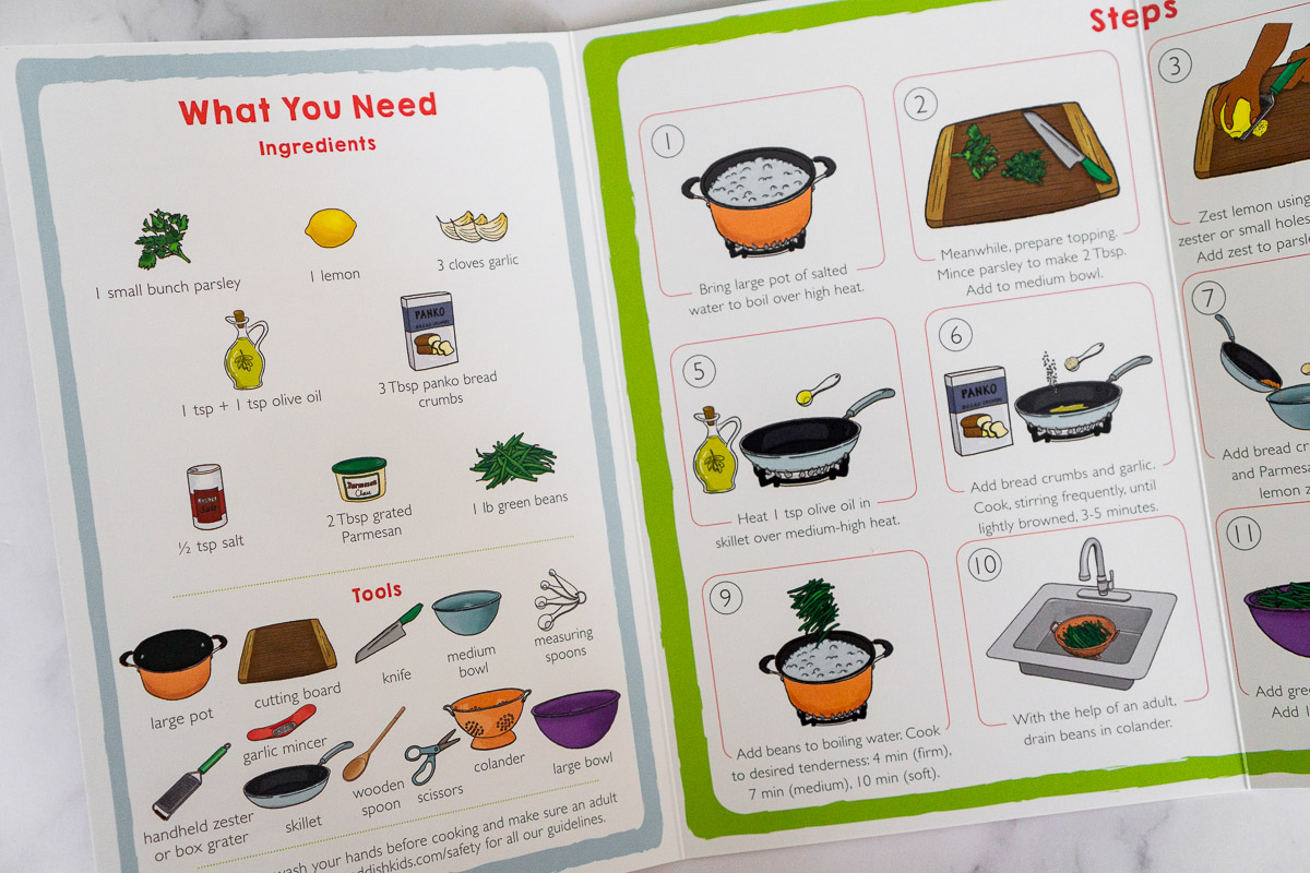 picture of recipe card from Raddish Kids