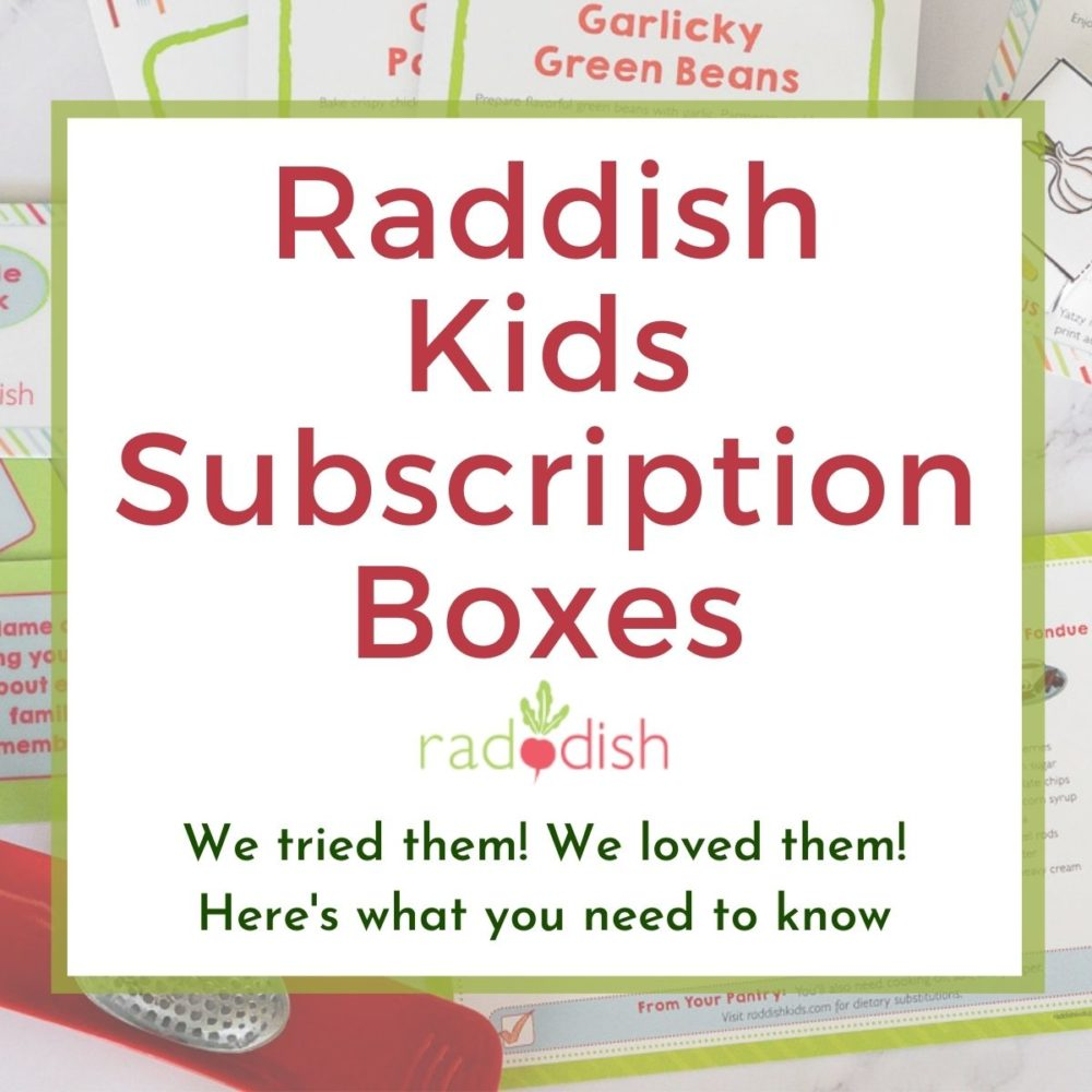 graphic of raddish kids review