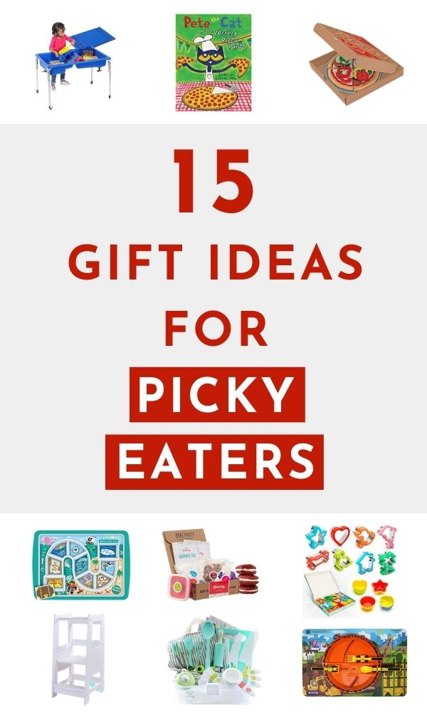 pinnable image of gift guide for picky eaters