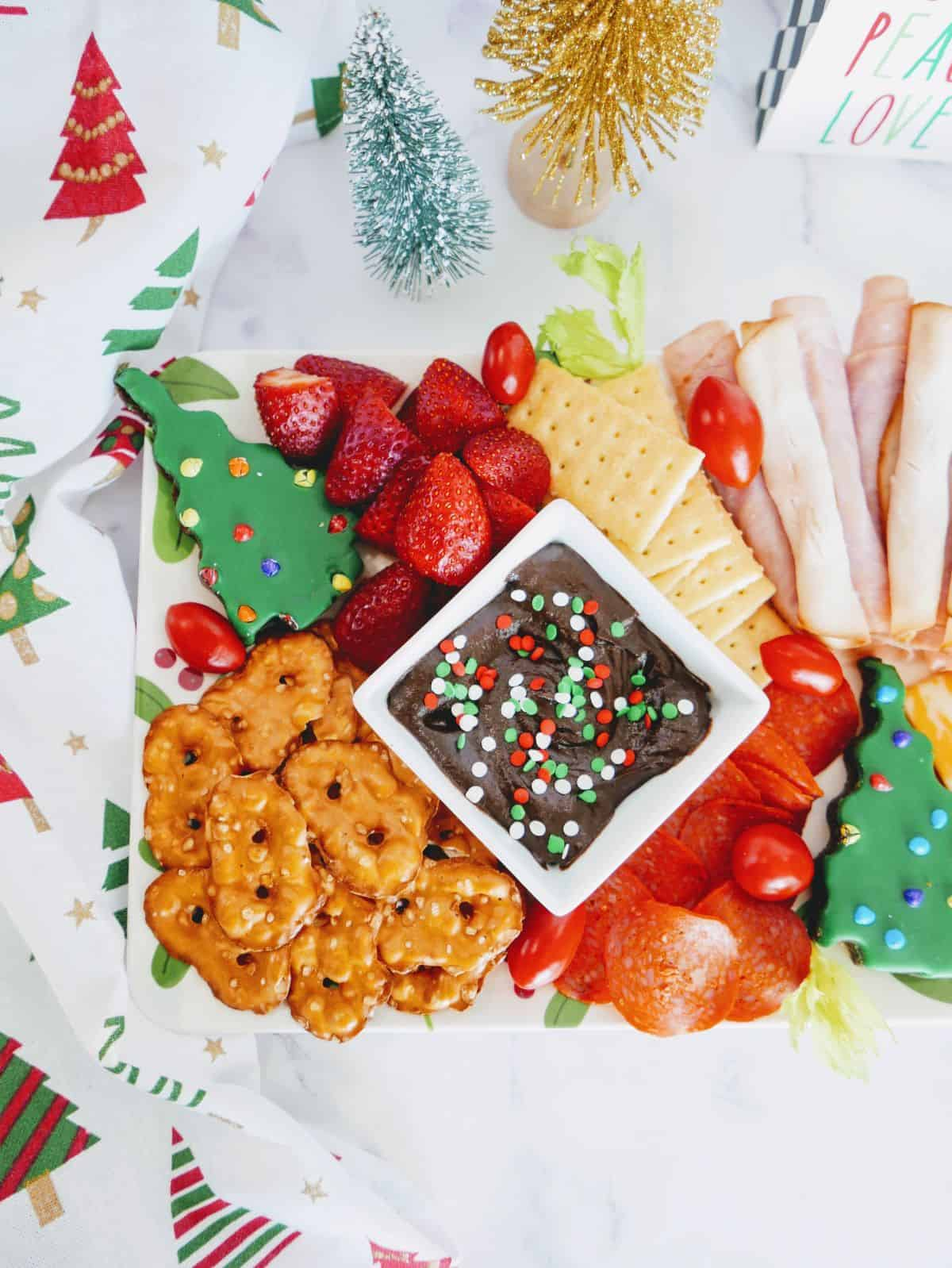 holiday charcuterie board for kids