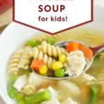 pinnable image of chicken noodle soup for picky eaters
