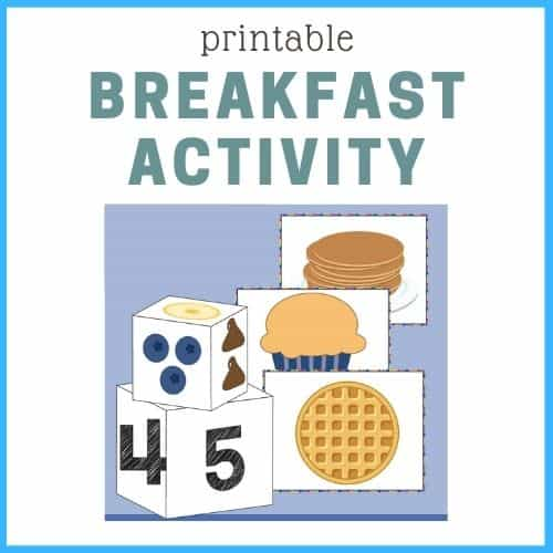 Graphic of free printable activity for picky eaters.